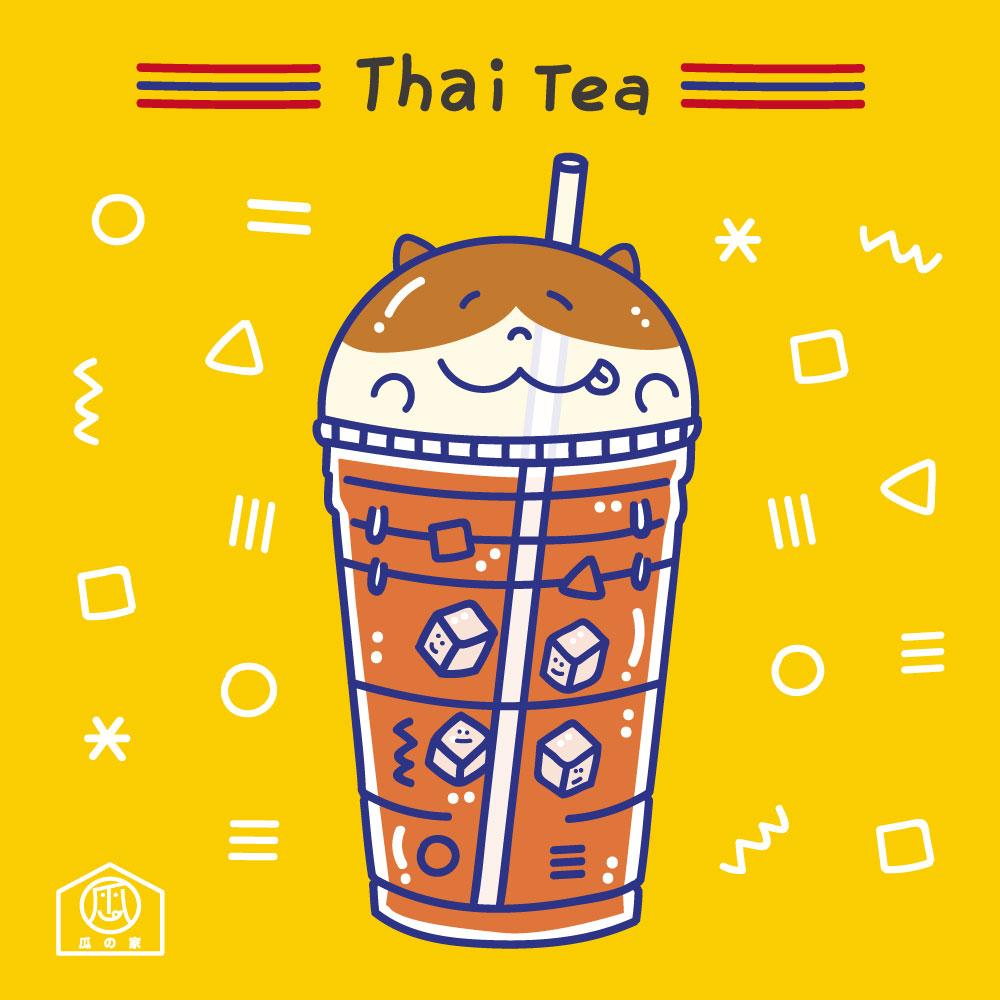 Asoke站 超平價美食 泰國奶茶 插畫