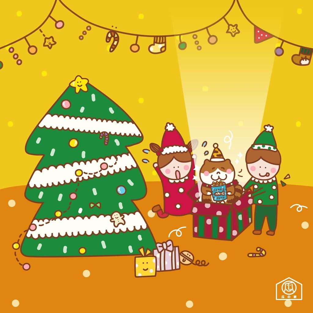 瓜之家 耶誕節聖誕 貓咪原創插畫